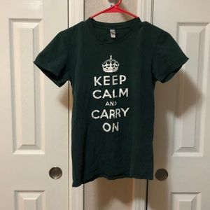American Apparel 'Keep Calm and Carry On' tee
